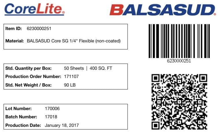 BALSASUD Core Label